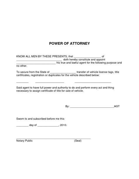 simple power of attorney form template simple power of attorney template clergy coalition