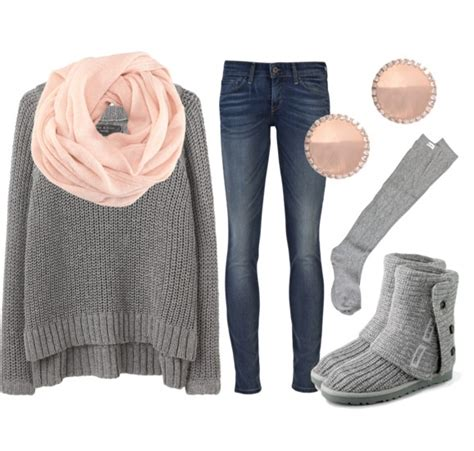 16 Comfy And Chic Polyvore Outfits With Uggs For F/W - fashionsy.com