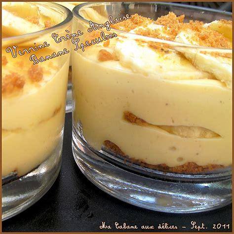 verrine creme anglaise banane speculoos recettes faciles recettes rapides de djouza