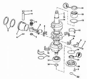 Johnson Crankshaft  U0026 Piston Parts For 1989 70hp J70tlcem