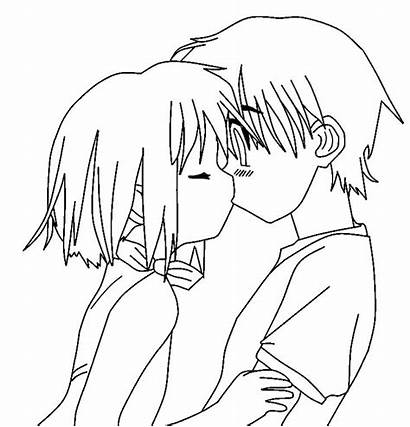 Anime Easy Couple Drawing Sketches Couples Template