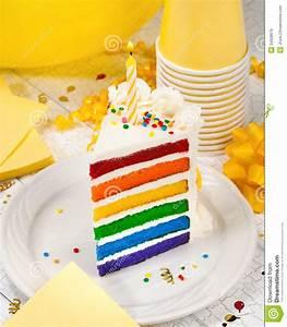 Slice of Birthday Cake stock image. Image of homemade ...
