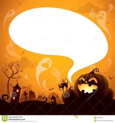 halloween jack  lantern  speech bubble stock vector