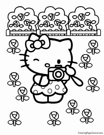 Kitty Hello Coloring Pages Sanrio Central Mushrooms