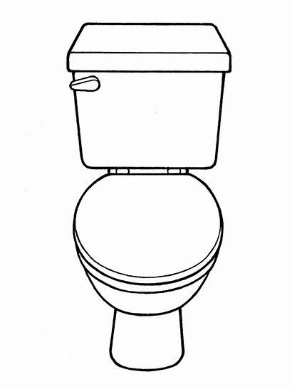 Toilet Coloring Pages Drawing Printable Line Potty