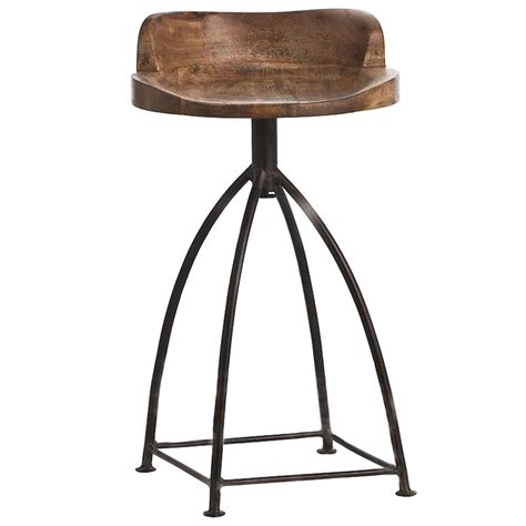 luxury bar stools leather missoula industrial loft antique wood iron swivel counter