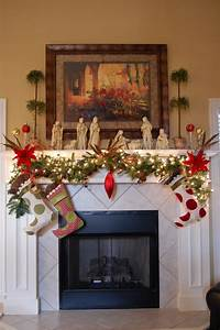 Ideas : Adorable Christmas Mantel Decorating Ideas for The