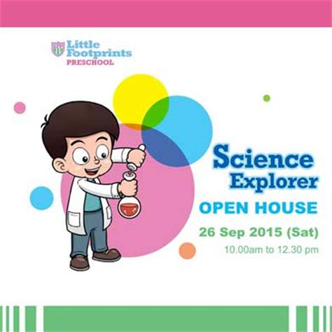 footprints preschool partner operator scheme pop 858 | Science Explorer Open House