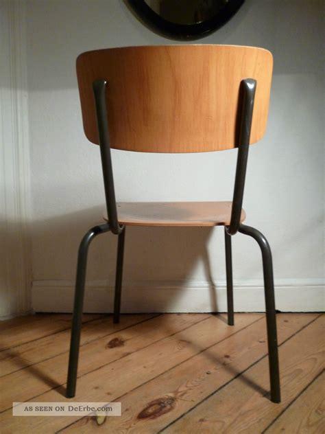 stuhl holz metall antiker schulstuhl 50er 60er stuhl antik holz metall stahlrohr