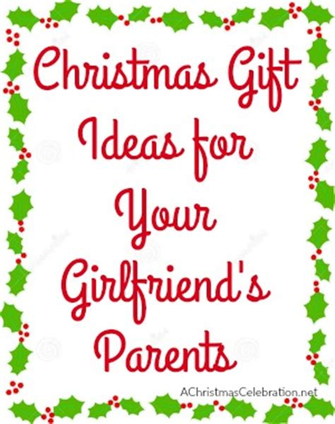 christmas gift ideas for your girlfriend s parents