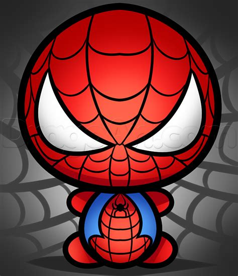 draw kawaii spiderman paper  pencil