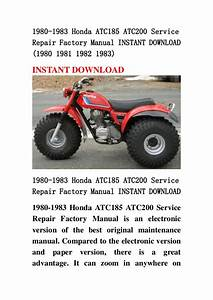 1980 1983 Honda Atc185 Atc200 Service Repair Factory