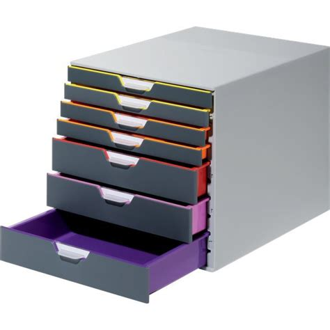 cassettiera da scrivania cassettiere da scrivania varicolor durable grigio e