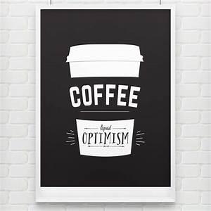 'Liquid Inspiration' Coffee Poster - doodlelove