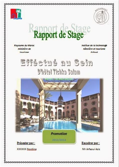 rapport de stage cuisine rapport de stage hotoliere rapport de stage itht