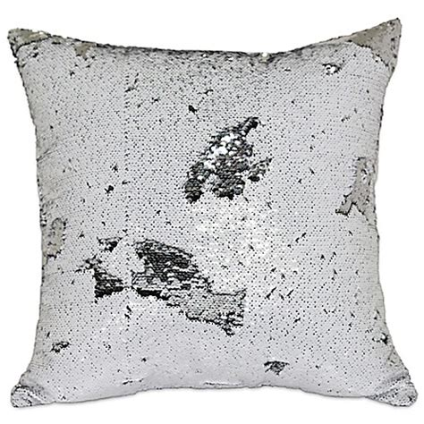 white and silver throw pillows buy mermaid sequin square throw pillow in white silver