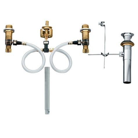 moen widespread bathroom faucet rough  valve  drain