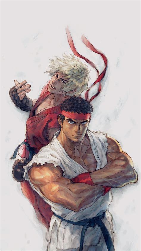 aj anime street fighters ryu ken art illust wallpaper