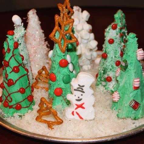 christmas tree ice cream cone craft holidays pinterest