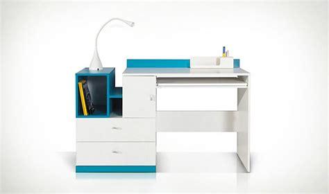 bureau pour chambre ado bureau design ado et enfant en bois blanc et bleu jolly