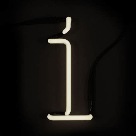 seletti neon wall light letter i iwoot