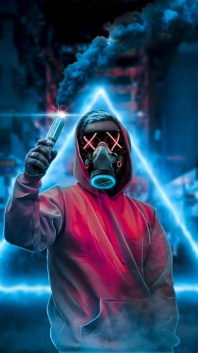 Mask Guy Mobile Smoke Wallpapers Without Tablet