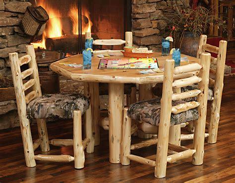 log cabin furnishings diningroom rustic furniture mall by timber creek