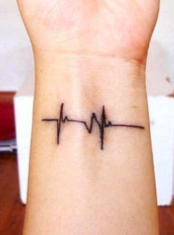 heartbeat line tattoo designs | Heartbeat tattoo on wrist