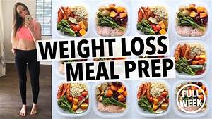 WEIGHT LOSS MEAL PREP FOR WOMEN 1 WEEK IN 1 HOUR By