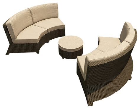 barbados 3 curved patio sectional set spectrum