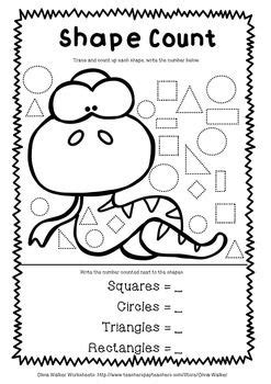 shape worksheets geometry worksheets kindergarten