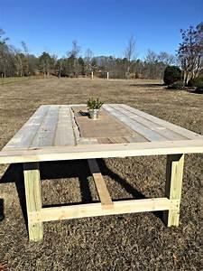 DIY Farmhouse Table The Home Depot Blog