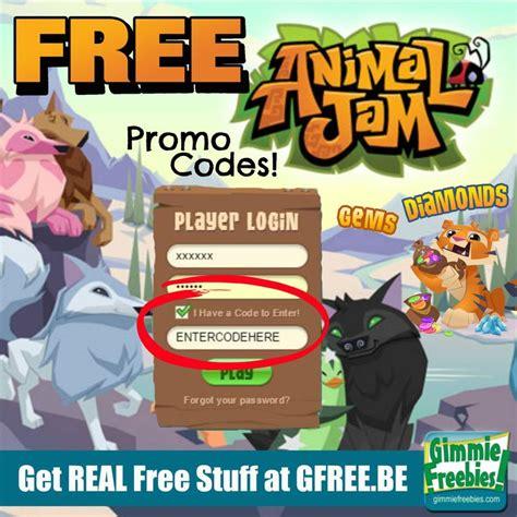 animal jam promo codes   diamonds gems
