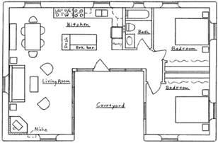 free sle floor plans u shaped house floor plan small u shaped house plans
