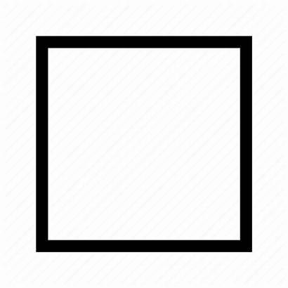 Box Square Empty Check Icon Editor Unchecked