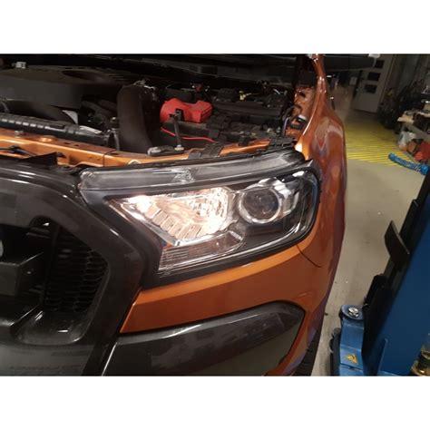 ford scheinwerfer scheinwerfer abdeckung blenden schwarz set ford ranger 2016 shop 2bcars at
