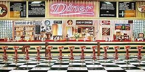 American Diner Wallpaper : 50 39 s diner background 51046 50 39 s diner inside backdrop 50s diner and soda fountain ~ Orissabook.com Haus und Dekorationen