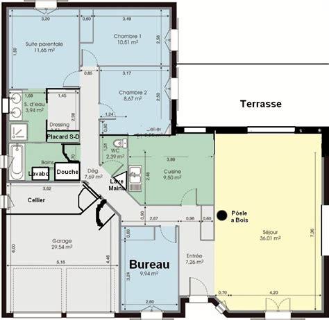 plan maison plain pied 4 chambres gratuit plan maison plain pied 120m2 4 chambres dcouvrez