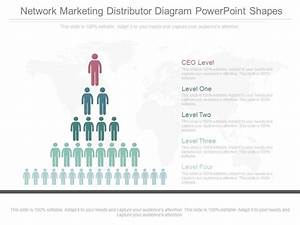 New Network Marketing Distributor Diagram Powerpoint Shapes