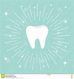 Healthy Tooth Icon. Round Line Circle. Oral Dental Hygiene ...