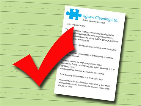 make a bid how to write a cleaning bid 5 steps with pictures wikihow