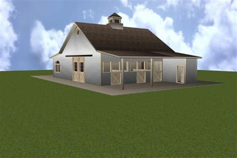 Apartment Barn Plans by 3 Stall Barn Plan With Ground Apartment My Style