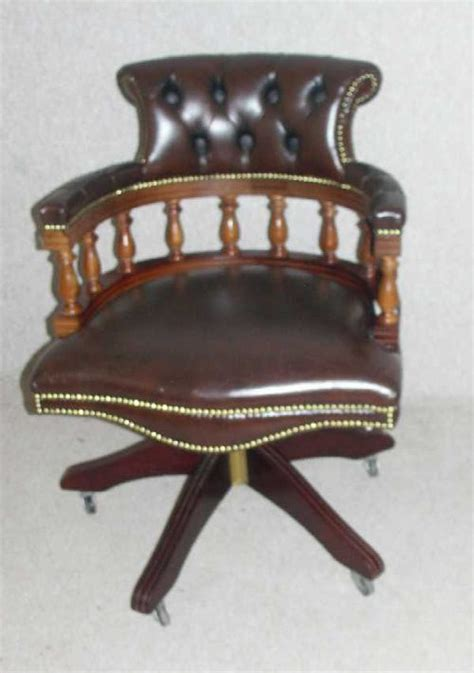 antiques atlas brown leather office chair