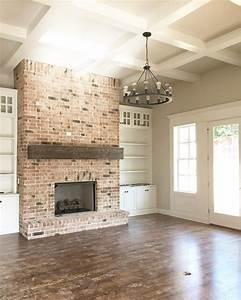 Brick, Fireplace, Mantle, 141, U2013, Decorathing