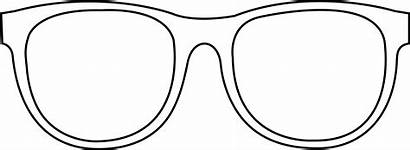 Sunglasses Glasses Coloring Pages Clipart Clip Printable