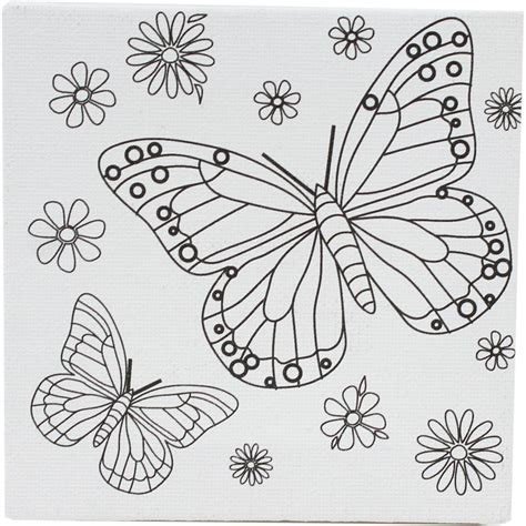 butterfly pictures to color butterfly colour in mini canvas hobbycraft