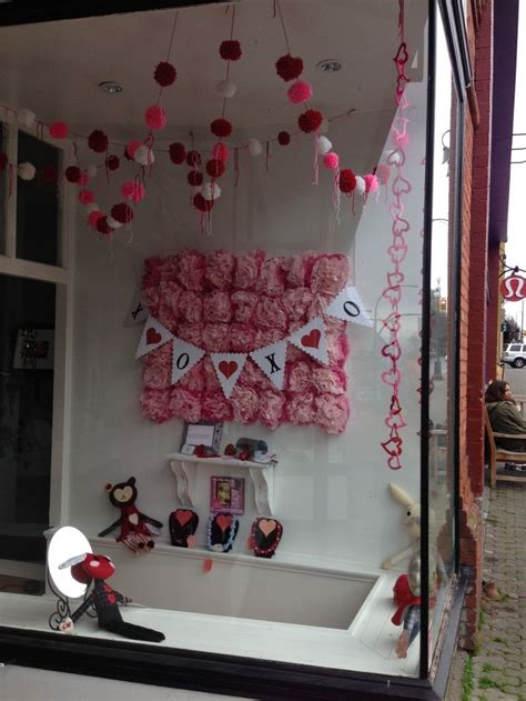 cute valentine store window display httpwww