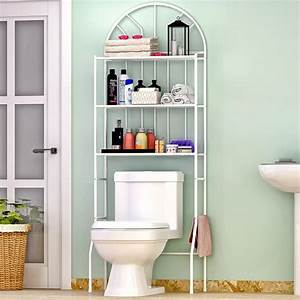 3, Shelf, Over, The, Toilet, Bathroom, Space, Saver, Organizer, Metal, Towel, Storage, Rack, 654936260566