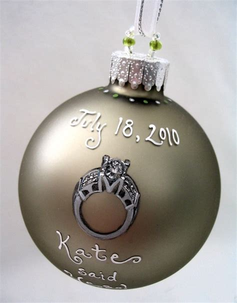wedding ring ornament 80 best christmas ball engaged wedding images on