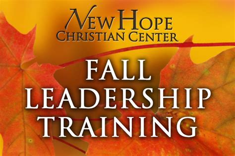 fall leadership training  hope christian center